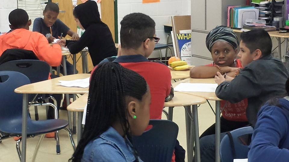 News & Observer article on CAPS artist, Anita Woodley &  Neal Middle School