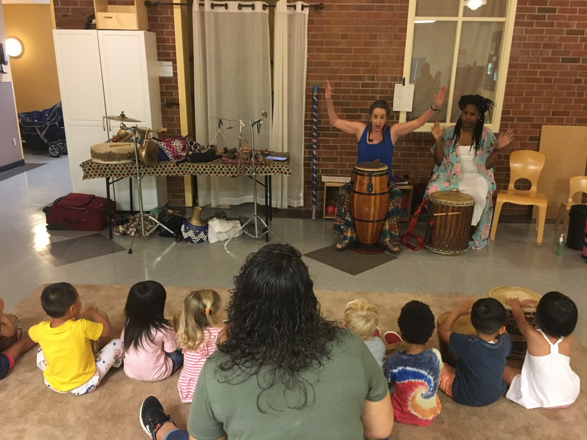 Preschoolers explore rhythm with Beverly Botsford